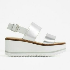 Zara Platform Wedge 38 7.5